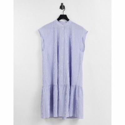 アンドアザーストーリーズ and Other Stories レディース ワンピース ワンピース・ドレス organic cotton linen stripe print mini dress