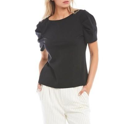 アントニオメラニー レディース Tシャツ トップス Amber Short Sleeve Round Neck Knit Tee Black