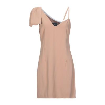 クラス ロベルト カヴァリ CAVALLI CLASS ミニワンピース&ドレス サンド 44 ポリエステル 100% / レーヨン / ポリウレタン