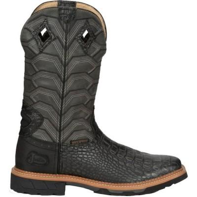 ジャスティンブーツ ブーツ&レインブーツ シューズ メンズ Justin Men's Derrickman Waterproof Western Work Boots CrocPrint