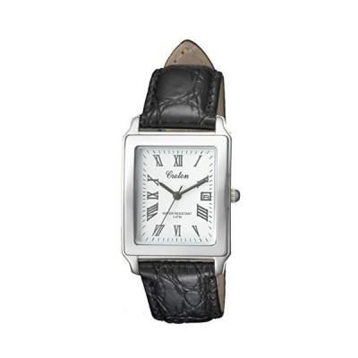 [クロトン] 腕時計 RT-158M-CA メンズ ブラック (文字盤色-ホワイト)