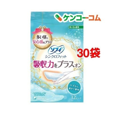 ソフィ シンクロフィット 多い日の昼用 ( 12枚入*30箱セット )/ ソフィ ( 生理用品 )