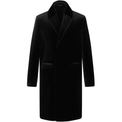 エンポリオ アルマーニ EMPORIO ARMANI コート ブラック 44 トリアセテート 75% / ポリエステル 25% コート