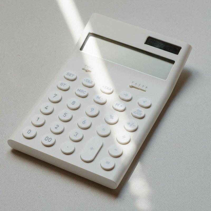 辦公小物 ∣ 正負零 ZZD-Q010 電子計算機-白色 安心出貨