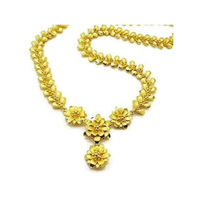 Montip Lynn Gorgeous 24k Yellow Gold Plated Women Girl Necklace Pendant Cho好評販売中