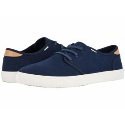 TOMS トムス メンズ 男性用 シューズ 靴 スニーカー 運動靴 Carlo Navy Heritage Canvas (Vegan)【送料無料】