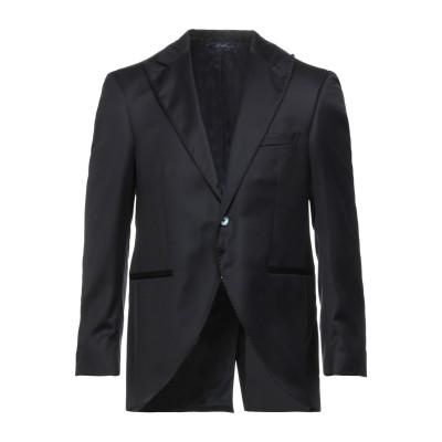 GI CAPRI テーラードジャケット ダークブルー 48 バージンウール 100% テーラードジャケット