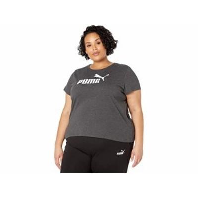 (取寄)プーマ レディース プラス サイズ エッセンシャル ロゴ ティー PUMA Women's Plus Size Essential Logo Tee Dark Gray Heather