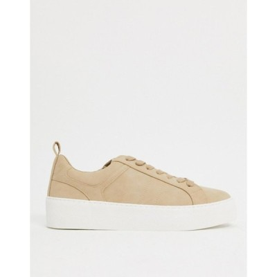 エイソス メンズ スニーカー シューズ ASOS DESIGN sneakers with rubber pannels in stone
