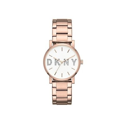 DKNY Women's Soho Analog-Quartz Watch with Stainless-Steel Strap, Rose Gold, 18 (Model: NY2654) 並行輸入品