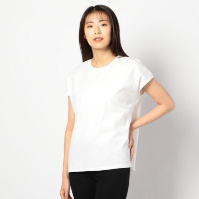 レディース オーガニックフレンチTシャツ ホワイト LL