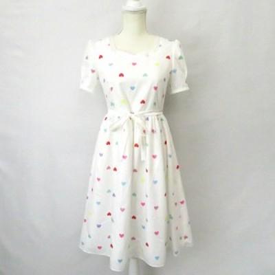 【中古】ミルク MILK ハート キャンディー dress ドレス ワンピース白ホワイト レディース
