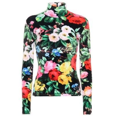 リチャード クイン Richard Quinn レディース ブラウス・シャツ トップス Floral velour shirt Lowry Black