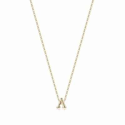 Tiny Initial Necklace, 14K Gold Plated Dainty Letter A Necklace Delicate Small Initial Necklace Personalized Monogram Name Neckl
