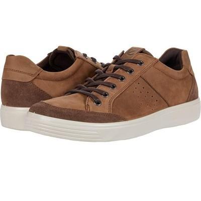 エコー Soft Classic Lace メンズ スニーカー 靴 シューズ Dark Clay Calf Suede/Cocoa Brown Cow Nubuck