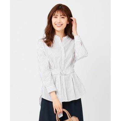 【エニィスィス】 2WAYシャツ ブラウス レディース オフ×ライトブラウン 3 any SiS