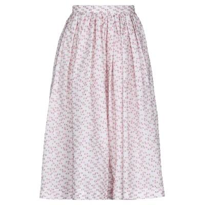 マルコ ボローニャ MARCO BOLOGNA 7分丈スカート ホワイト 40 コットン 59% / ポリエステル 33% / 金属繊維 4% /