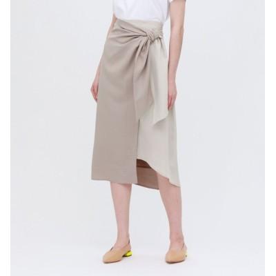 【ラブレス/LOVELESS】 バイカラー ラップスカート