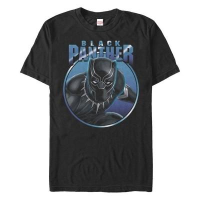 マーベル Tシャツ トップス メンズ Men's Comic Collection Black Panther Gaze Short Sleeve T-Shirt Black