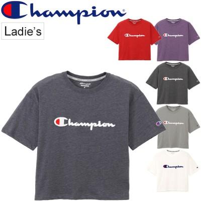 Tシャツ 半袖 レディース チャンピオン champion C VAPOR PP TEE スポーツウェア    サガラ刺繍 スポカジ  トップス 半袖シャツ カットソー/CW-QS302