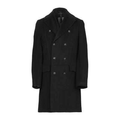 メッサジェリエ MESSAGERIE コート ブラック 50 ウール 60% / ポリエステル 30% / カシミヤ 10% コート