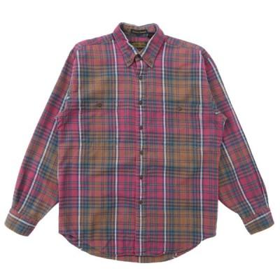 エディーバウアー  Eddie Bauer ボタンダウンシャツ チェック 長袖 黒タグ サイズ表記:M