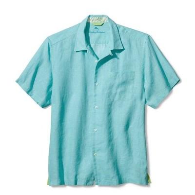 トッミーバハマ メンズ シャツ トップス Sea Glass Linen Short-Sleeve Woven Camp Shirt