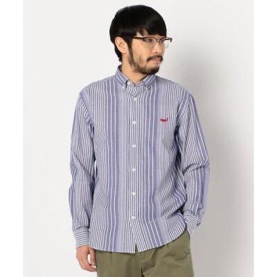 シャツ ブラウス クジラ刺しゅう ボタンダウンシャツ