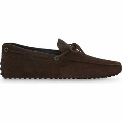 トッズ TODS メンズ ドライビングシューズ シューズ・靴 122 suede driving shoes DARK BROWN