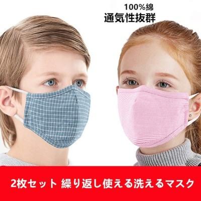 布マスク 洗える 2枚セット 3層構造 洗えるマスク 子供用マスク 子供用 夏 PM2.5 キッズ 繰り返し使える 通気 布 綿100% 花粉対策 風邪予防 男女兼用