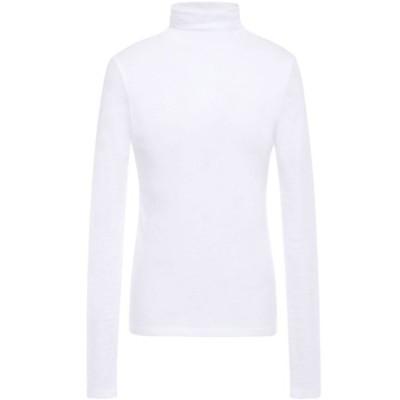 ヴィンス VINCE. レディース トップス cotton-jersey turtleneck top White