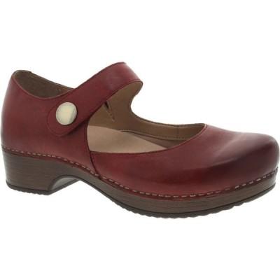 ダンスコ DANSKO レディース クロッグ シューズ・靴 Beatrice Clog Red Waxy Burnished Leather
