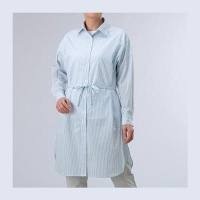 ◆◆送料無料 定形外発送 <ミズノ> MIZUNO ストライプチュニックナガシャツ(ウィメンズ) B2MC0210 (18) アウトドア