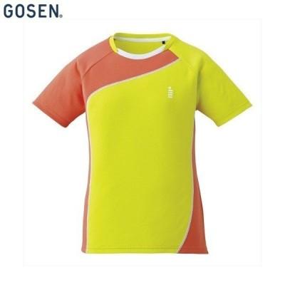 GOSEN/ゴーセン T1709 テニス バドミントン シャツ レディースゲームシャツ ライムグリーン T1709