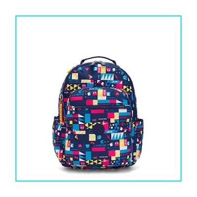 "Kipling Seoul Large Pac-Man 15"" Laptop Backpack Pacman Bts【並行輸入品】"