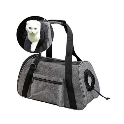(新品) Loncarey Pet Travel Carrier Bag,Lightweight Carrier Suitable for Puppies,Comfortable and Ventilated,Airline Approved (Large, Gr