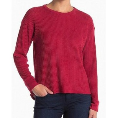 Project Social T プロジェクトソーシャルT ファッション トップス PROJECT SOCIAL T Waffle Knit Thermal Red Size Large L Crewneck Sw