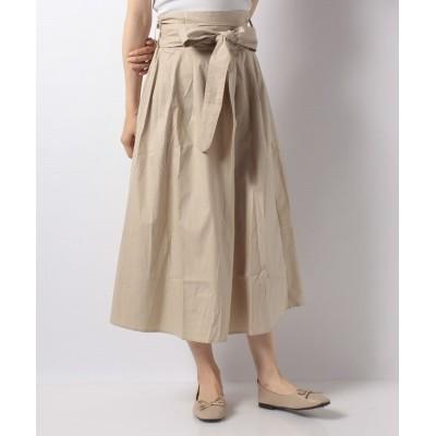 【テチチ】 リボン付きスカート レディース ベージュ F Te chichi