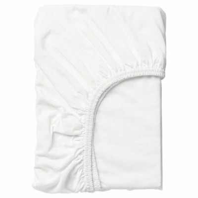 IKEA イケア ボックスシーツ ホワイト 白 80x130cm n90465269 LEN レーン
