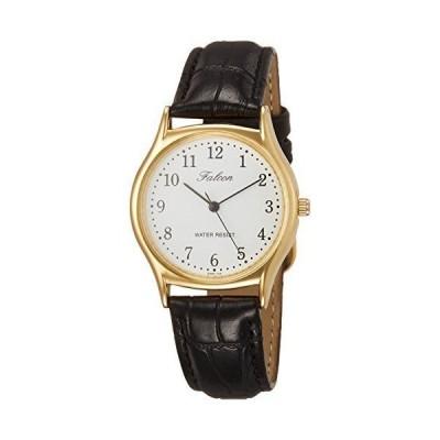 シチズン Q&Q 腕時計 アナログ 防水 革ベルト QA64-104 メンズ ブラック