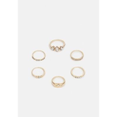 オンリー リング レディース アクセサリー ONLMILLE FINGERRINGS 6 PACK - Ring - gold-coloured