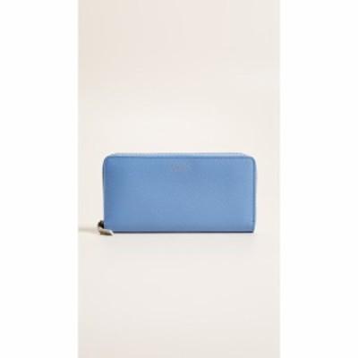 スマイソン Smythson レディース 財布 Panama Zip Around Wallet Nile Blue