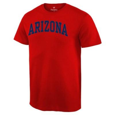 """メンズ Tシャツ """"Arizona Wildcats"""" Basic Arch T-Shirt - Red"""