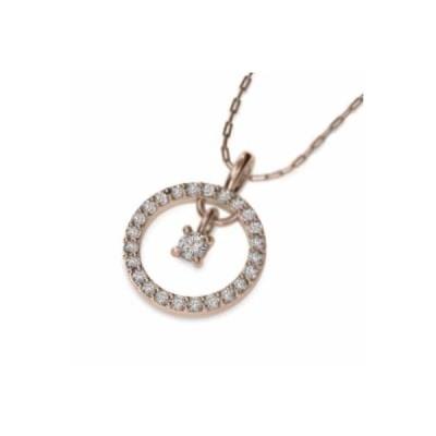 チェーン ペンダント ダイヤモンド k18ピンクゴールド