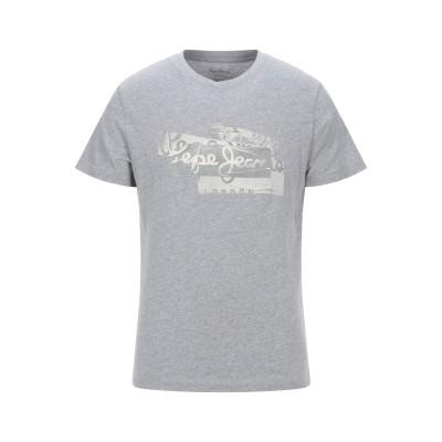 ペペ ジーンズ PEPE JEANS T シャツ ライトグレー XL コットン 100% T シャツ