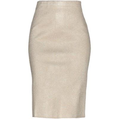 OLLA PARÉG ひざ丈スカート サンド 38 アセテート 84% / 指定外繊維(その他伸縮性繊維) 6% / ナイロン 5% / 金属化ポリ