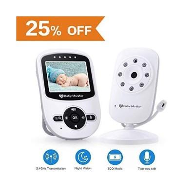 """新品Video Baby Monitor with Camera [2019 Upgraded] Night Vision, Two-Way Talk Audio, Temperature Sensor, ECO Mode, 2.4"""" Color Screen, Long"""