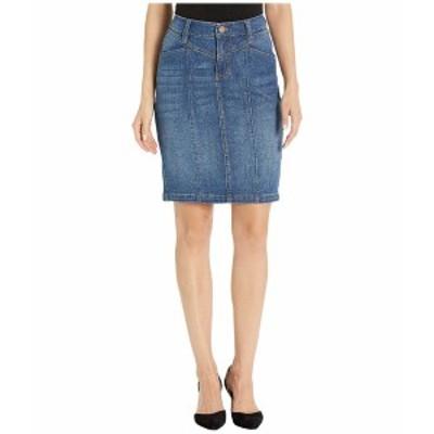 リバプール レディース スカート ボトムス Front Yoke Tapered Skirt in Vintage Denim in Holly Holly