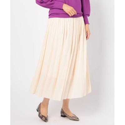 【ノーリーズ】 [新色追加]割繊ロング丈ギャザースカート レディース エクリュ 36 NOLLEY'S