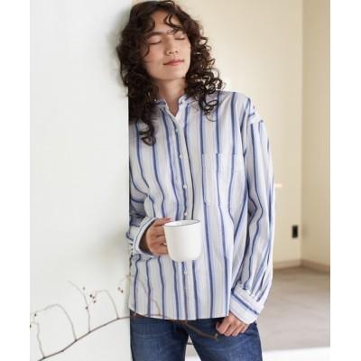 AMERICAN HOLIC / 【2020SS】スタンドカラーBIGシャツ【WEB限定】* WOMEN トップス > シャツ/ブラウス
